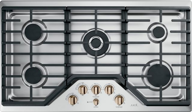 """Café™ 36"""" Stainless Steel Gas Cooktop-CGP95363MS2"""