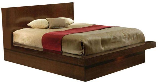 Coaster® Jessica Cappuccino King Platform Bed-200711KE