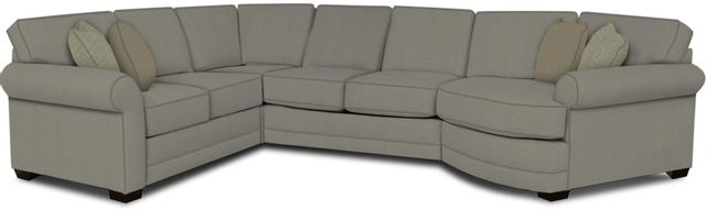 England Furniture Co. Brantley 4 Piece Culpepper Cement/Alvarado Mineral/Anja Oyster Sectional-5630-28-22-43-95+8612+8415+8601