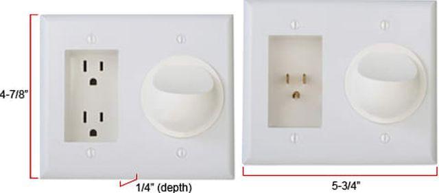 SnapAV WattBox® White PowerFlex with Duplex Wall Plate and Silicon A/V Pass Through - Kit-WB-PowerFlex-S-WHT