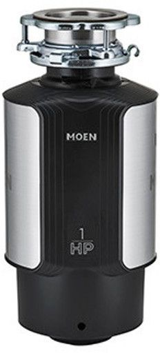 Moen® GX Series 1 HP Continuous Feed Black Garbage Disposal-GXL1000C