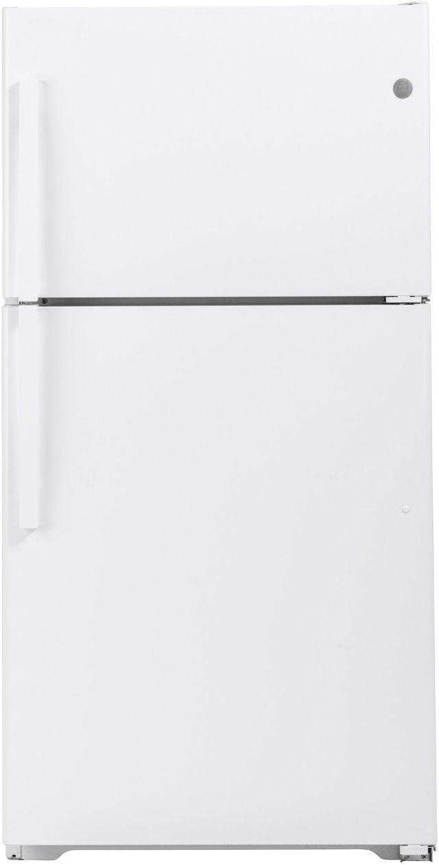 GE® 21.9 Cu. Ft. White Top Freezer Refrigerator-GIE22JTNRWW