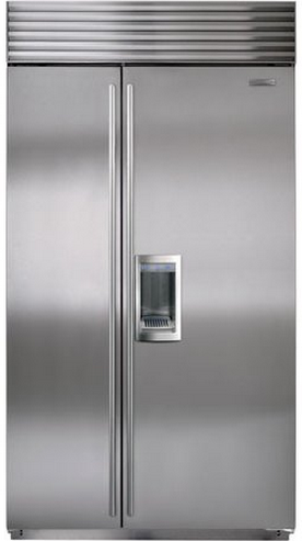 Sub-Zero 22.4 Cu. Ft. Built-In Side By Side Refrigerator With Dispenser-Stainless Steel-BI42SDS
