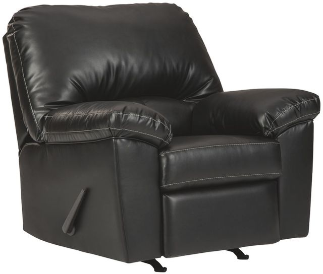 Fauteuil berçant inclinable Brazoria en tissu noir Benchcraft®-2470225