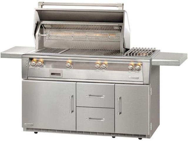 "Alfresco™ ALXE Series 56"" Sear Zone Deluxe Freestanding Grill-Stainless Steel-ALXE-56SZR-NG"