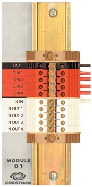 Crestron® Terminal Block-CLT-1DIMU4