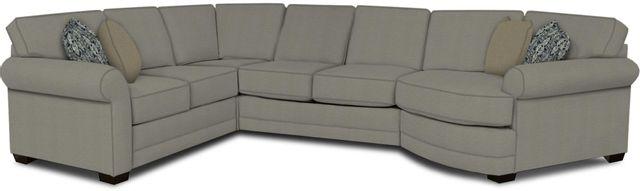 England Furniture Co. Brantley 4 Piece Culpepper Cement/Alvarado Mineral/Gladiator Fog Sectional-5630-28-22-43-95+8612+8346+8601
