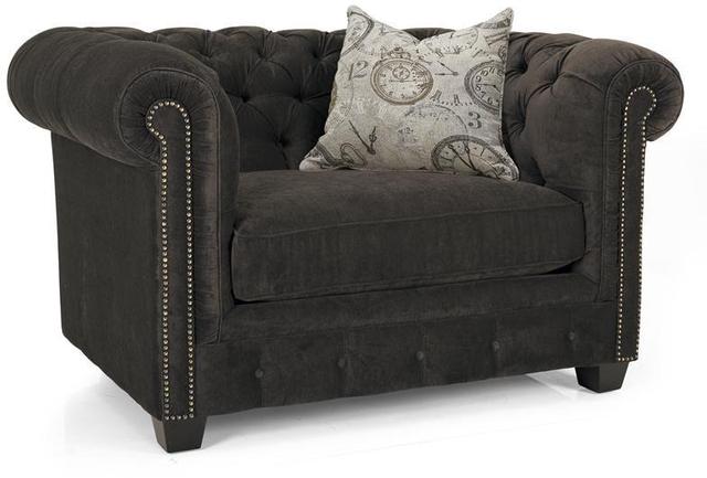 Decor-Rest® Furniture LTD 2230 Dark Gray Chair and a Half-2230-CHAIR & HALF DARK GRAY