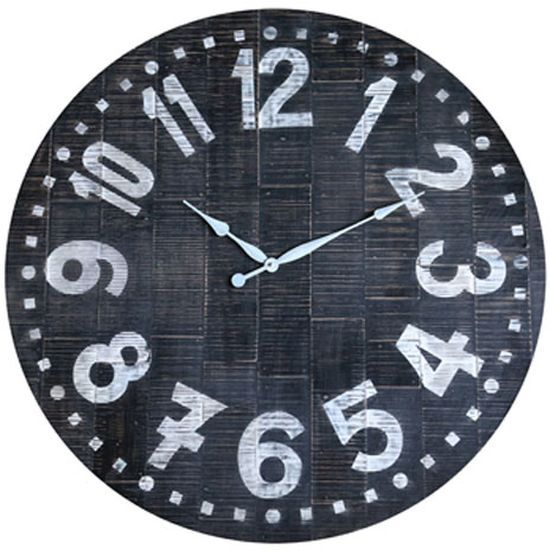 Signature Design by Ashley® Brone Black/White Wall Clock-A8010167