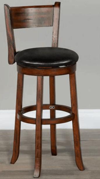 Sunny Designs Vintage Mocha Swivel Barstool-1646VM-B30