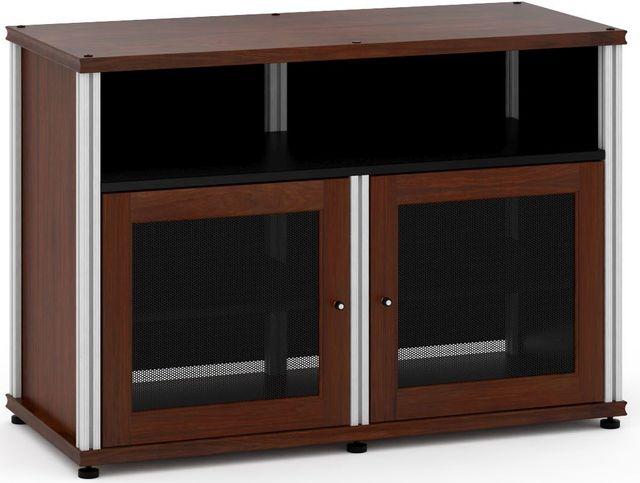 Salamander Designs® Synergy Model 329 AV Cabinet-Dark Walnut/Aluminum-SB329W/A