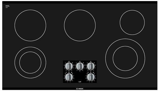 "Bosch 500 Series 36"" Electric Cooktop-Black-NEM5666UC"