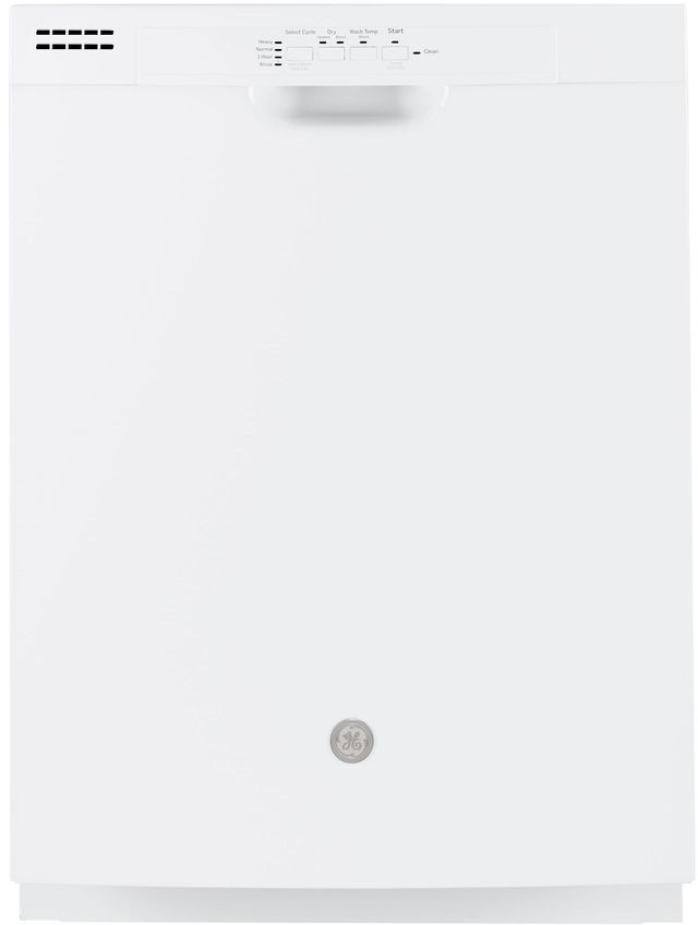 "GE® 24"" Built in Dishwasher-White-GDF511PGMWW"