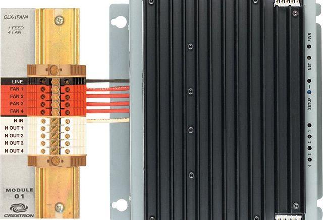Crestron® 4 Channel Fan Speed Control Module-CLX-1FAN4