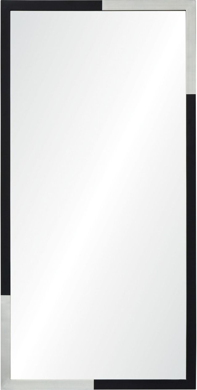 Miroir Peint Waltham, silver leaf/noir, Renwil®-MT2211