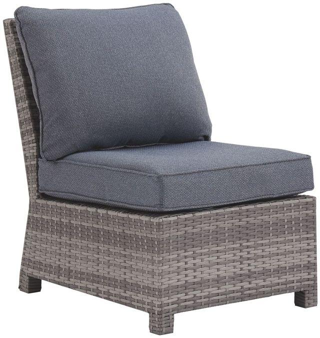 Signature Design by Ashley® Salem Beach Gray Armless Chair with Cushion-P440-846