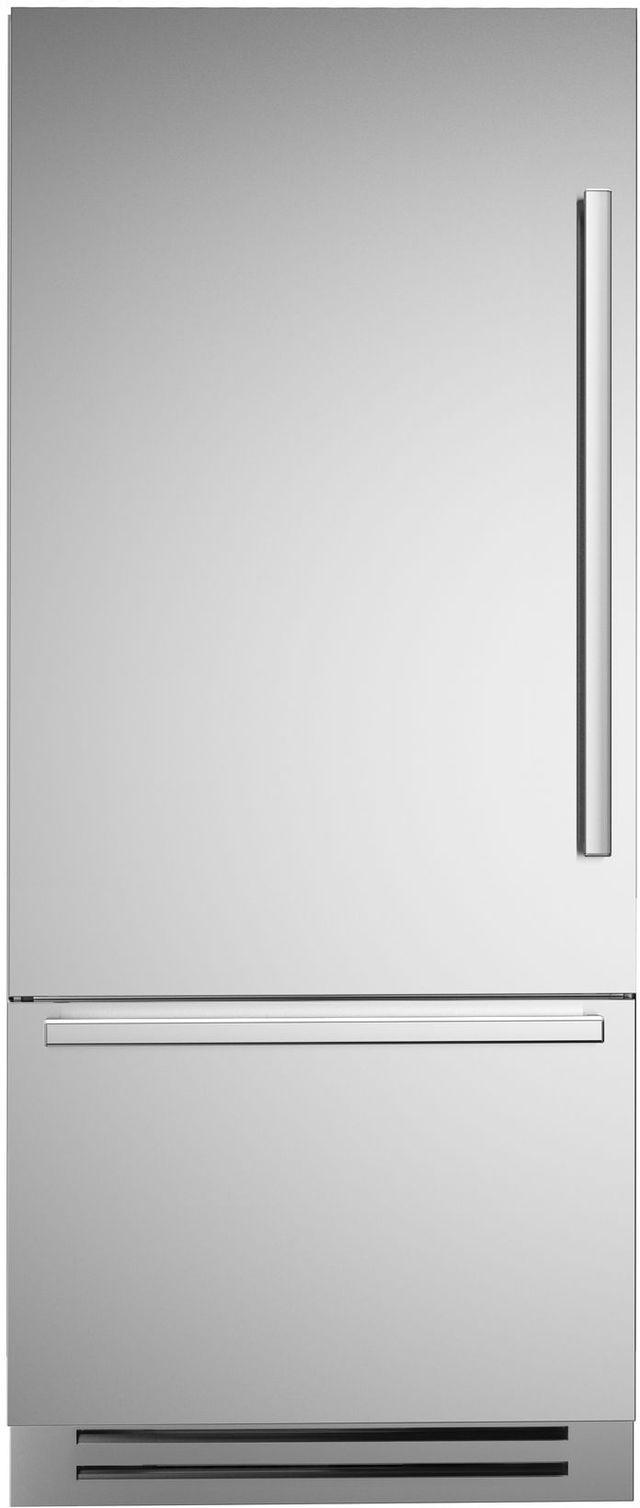 Réfrigérateur à congélateur inférieur de 36 po Bertazzoni® de 17,7 pi³ - Acier inoxydable-REF36PIXL