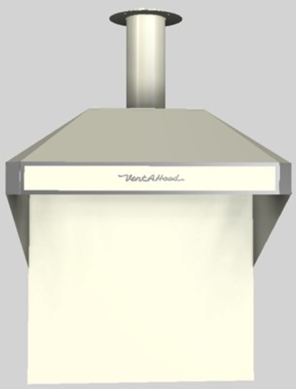 """Vent-A-Hood® A Series 36"""" Retro Style Wall Mounted Range Hood-Biscuit-AH12-136 BT"""