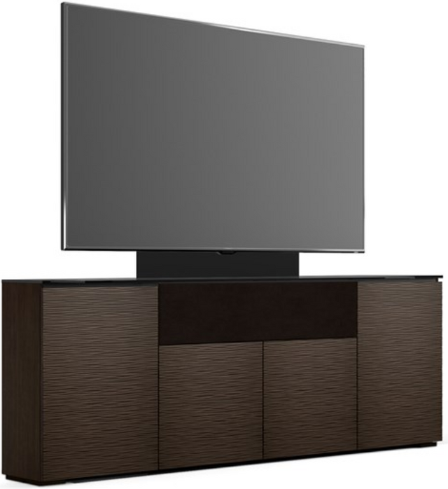Salamander Designs® Chameleon Low Profile 345 Wengé With TV Mount Speaker Integrated Cabinet-C1/BL345M/WE