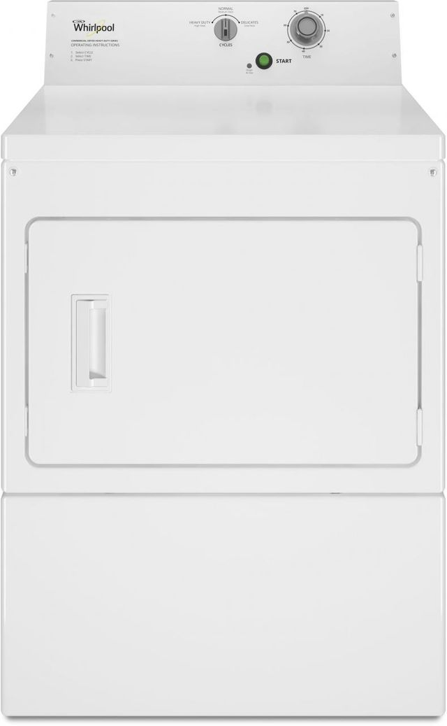 Whirlpool® Commercial 7.4 Cu. Ft. White Front Load Electric Dryer-CEM2795JQ