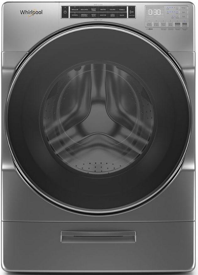 Laveuse à chargement frontal Whirlpool® de 5,8 pi³ - Ombre de chrome-WFW8620HC