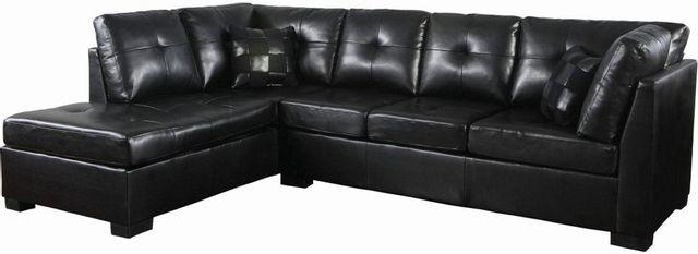Coaster® Darie 2 Piece Black Sectional Set-500606