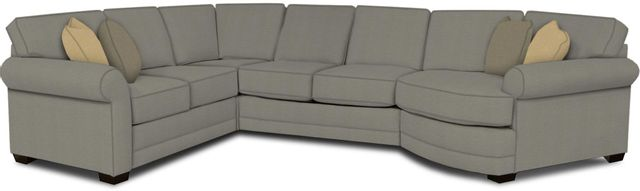 England Furniture Co. Brantley 4 Piece Culpepper Cement/Alvarado Mineral/Pindot Flannel Sectional-5630-28-22-43-95+8612+8142+8601
