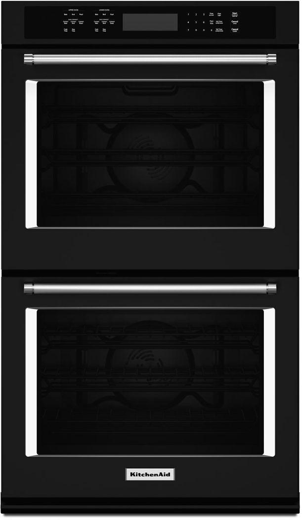 "KitchenAid® 27"" Black Electric Double Oven Built In-KODE507EBL"