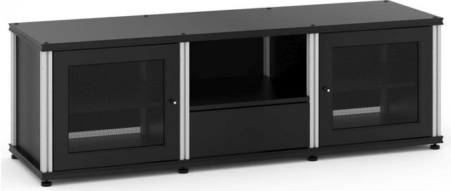 Salamander Designs® Synergy Model 236 AV Cabinet-Black/Aluminum-SB236B/A