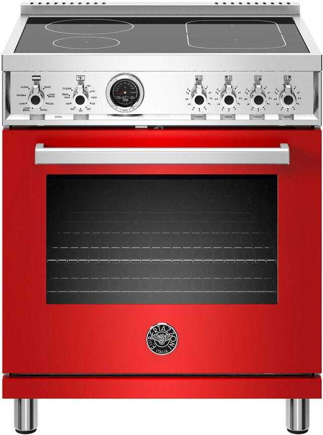 Cuisinière électrique autoportante de 4,6 pi³ Bertazzoni® de 30 po - Rouge-PROF304INSROT