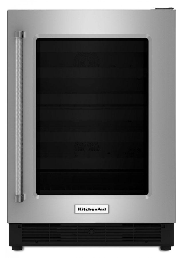 "KitchenAid® 23.75"" Stainless Steel Frame Under The Counter Refrigerator-KURR204ESB"