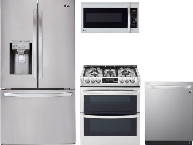 LG 4 Piece Kitchen Package-Stainless Steel-LGKITLTG4715ST