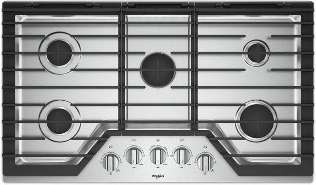 Table de cuisson au gaz Whirlpool® de 36 po - Acier inoxydable-WCG97US6HS