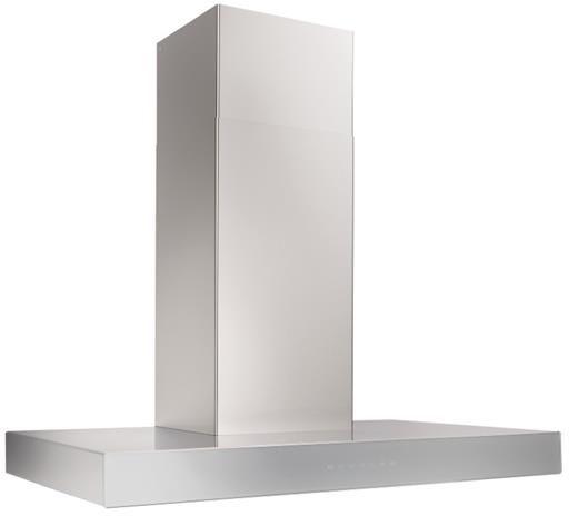 "Best® Ispira 36"" Stainless Steel Grey Glass Chimney Range Hood-WCB3I36SBS"