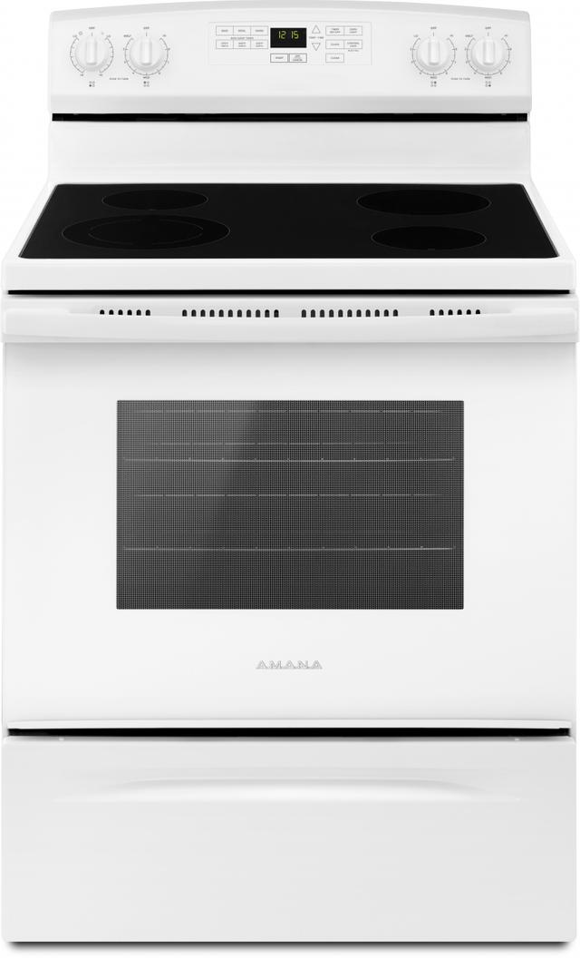 "Amana® 29.88"" White Free Standing Electric Range-AER6603SFW"