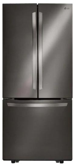 Réfrigérateur à portes françaises de 30 po LG® de 21,8 pi³ - Acier inoxydable noir résistant aux traces de doigts-LRFNS2200D