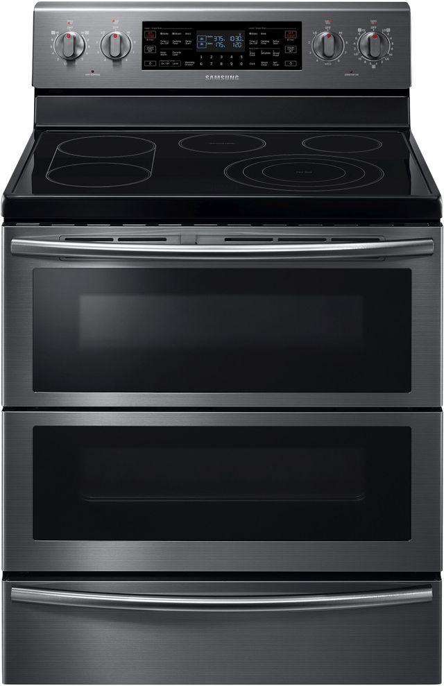 "Samsung 30"" Free Standing Electric Flex Duo® Range-Fingerprint Resistant Black Stainless Steel-NE59J7850WG"