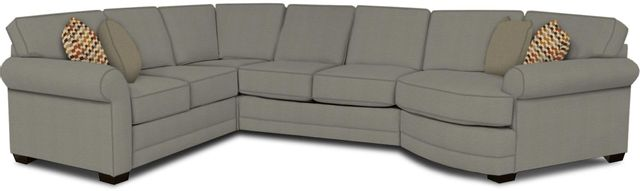 England Furniture Co. Brantley 4 Piece Culpepper Cement/Alvarado Mineral/Downtown Frost Sectional-5630-28-22-43-95+8612+7735+8601