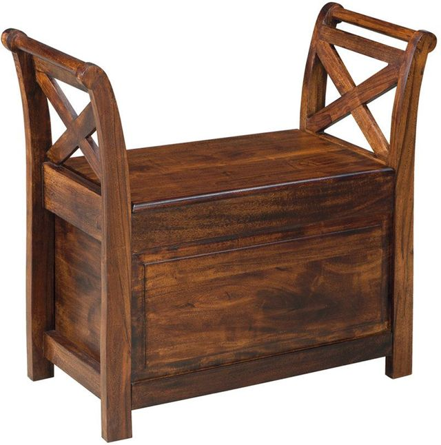 Signature Design by Ashley® Abbonto Warm Brown Bench-T800-112