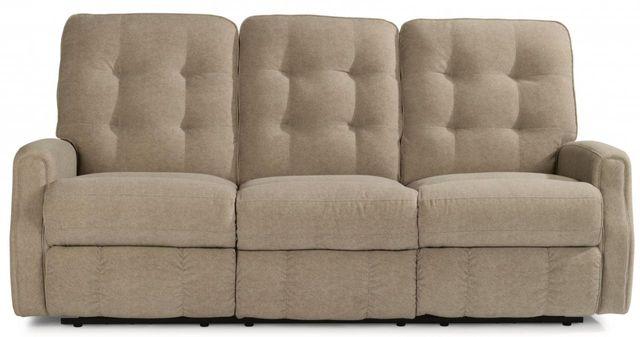 Flexsteel® DevonLeather Power Reclining Sofa withoutNailheadTrim-3882-62M