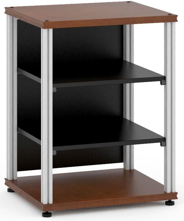 Salamander Designs® Synergy Single 30 AV Cabinet-Dark Cherry/Aluminum-SU30C/A