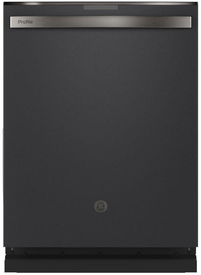 """GE Profile™ 24"""" Black Slate Built In Dishwasher-PDT715SFNDS"""
