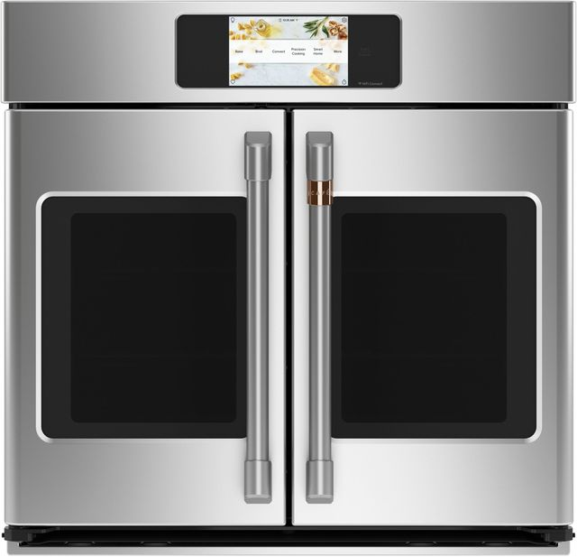 """Café™ Professional Series 29.75"""" Stainless Steel Smart Built In Convection French Door Single Wall Oven-CTS90FP2NS1"""