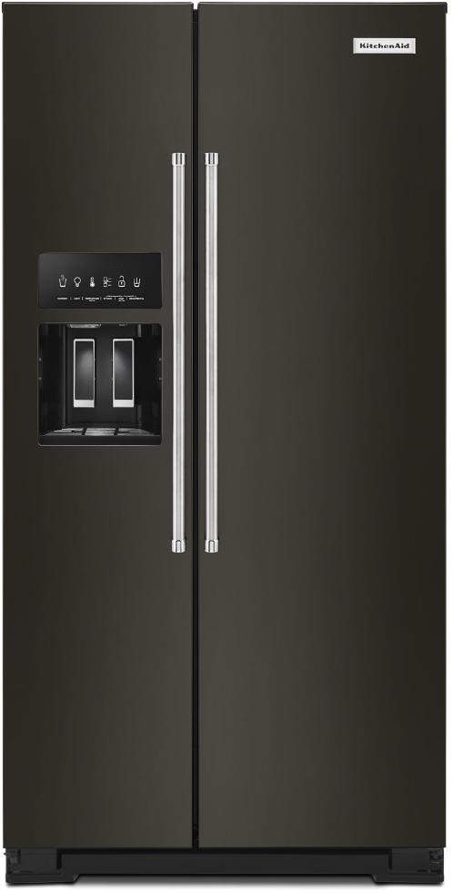 Réfrigérateur côte-à-côte à profondeur de comptoir de 36 po KitchenAid® de 22,6 pi³ - Acier inoxydable résistant aux traces de doigts-KRSC703HBS