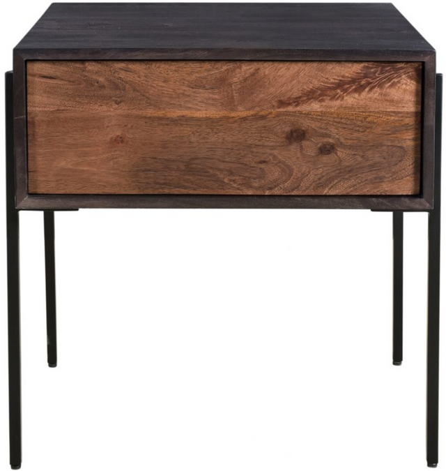 Table d'appoint carrée Tobin, brun, Moe's Home Collections®-JD-1002-12