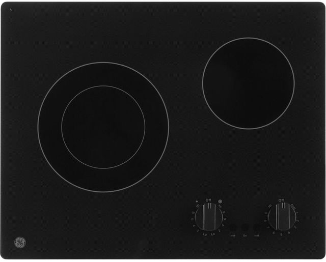 "GE® 22"" Black Electric Radiant Cooktop-JP3021DPBB"