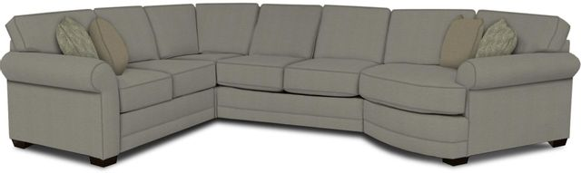 England Furniture Co. Brantley 4 Piece Culpepper Cement/Alvarado Mineral/Mamie Blush Sectional-5630-28-22-43-95+8612+8563+8601