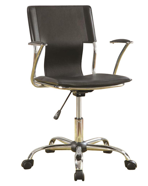Coaster® Black and Chrome Adjustable Height Office Chair-800207