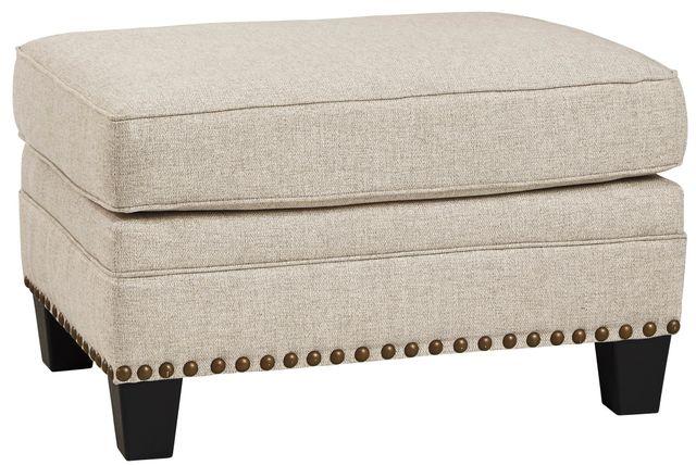 Benchcraft® Claredon Linen Ottoman-1560214