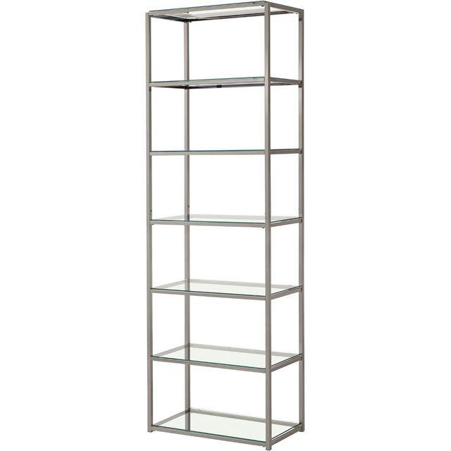 Coaster® Carmelo Black Nickel Bookcase-801017